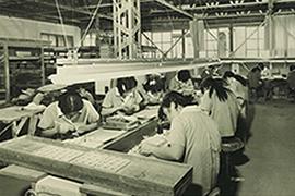 昭和46年 工場内仕上工程